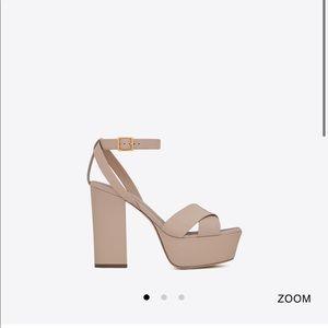 YSL Farrah criss cross sandal